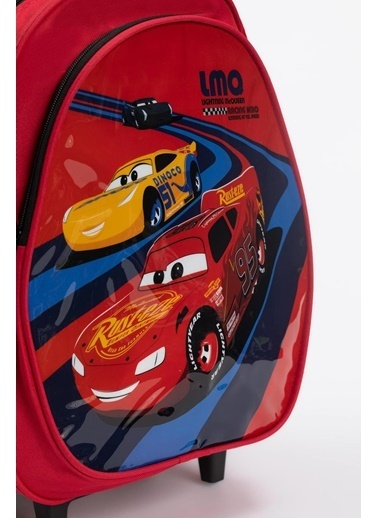 DeFacto Erkek Çocuk Arabalar Lisanslı Çekçekli Okul Çantası Kırmızı